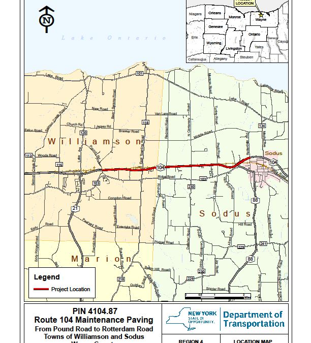 Upcoming Route 104 Construction